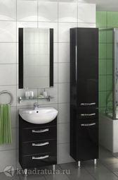 Мебель для ванной Акватон Ария 50 Н черный глянец