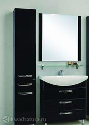 Мебель для ванной Акватон Ария 80 Н черный глянец