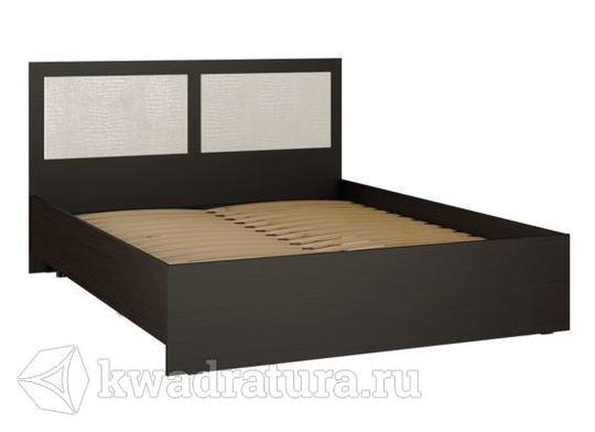 Кровать Александрия-К венге/белый крокодил