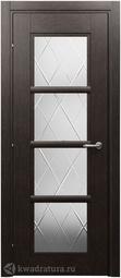 Межкомнатная дверь Краснодеревщик 3340 Черный Дуб ДО Матовое