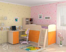 Кровать Дюймовочка 1 Оранжевая
