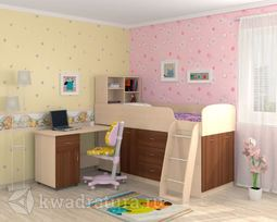 Кровать Дюймовочка 1 Орех