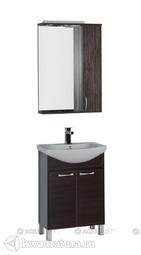 Набор мебель для ванной Aquanet Донна 60 венге 2 дверцы