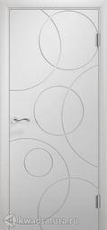 Межкомнатная дверь Двери и К 60 Роллинг ДГ эмаль белая