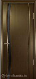 Межкомнатная дверь Кипарис 1 ДО Венге стекло тон