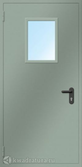 Дверь противопожарная со стеклом ДПМO EI60-01 Ral 7035