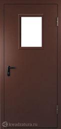 Дверь противопожарная со стеклом ДПМ EI60-01 Ral 8017