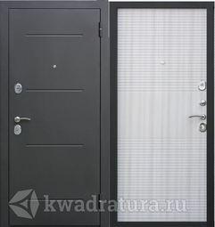 Входная дверь Феррони Гарда 7,5 Черный муар/Белый ясень