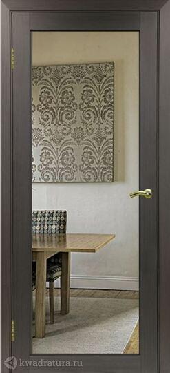 Межкомнатная дверь OPorte Турин 501.1 Зеркало/Лакобель белое Венге