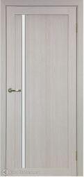 Межкомнатная дверь OPorte Турин 527АПС Молдинг SC Дуб беленый кромка алюминиевая