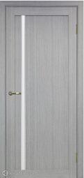 Межкомнатная дверь OPorte Турин 527АПС Молдинг SC Дуб серый кромка алюминиевая