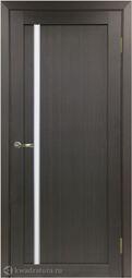 Межкомнатная дверь OPorte Турин 527АПС Молдинг SC Венге кромка алюминиевая