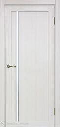 Межкомнатная дверь OPorte Турин 527АПС Молдинг SC Ясень перламутровый кромка алюминиевая