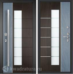 Дверь входная алюминиевая Торэкс Domani 100 ВО ФМ черное дерево/ФМ Черное дерево
