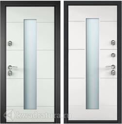 Дверь входная алюминиевая Торэкс Domani 100 ВО RAL 9016 белый/КТ белый