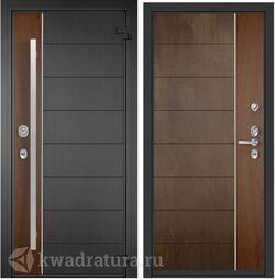 Дверь входная алюминиевая Торэкс Domani 100 ФМ Графен/ФМ Американский орех