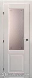 Межкомнатная дверь Краснодеревщик 6324 Дуб Беленый с патиной ДО Кружевное