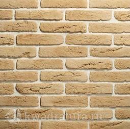 Декоративный гипсовый камень Старый кирпич охра