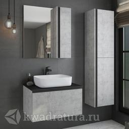 Комплект мебели для ванной Comforty Эдинбург 75 светлый бетон