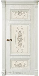 Межкомнатная дверь Магнолия 5 СТ Дуб белый жемчуг