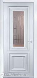 Межкомнатная дверь Мильяна Бристоль Премьера ст Византа белая эмаль