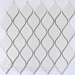Мозаика керамическая Bonaparte Melany white glossy 26,4х28