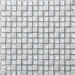 Мозаика стеклянная c камнем Bonaparte Iceberg 30х30