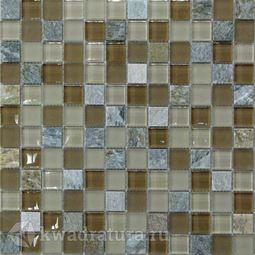 Мозаика стеклянная c камнем Bonaparte Free time-23 30х30