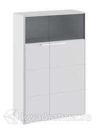 Шкаф Наоми  комбинированный с 2 дверями белый глянец