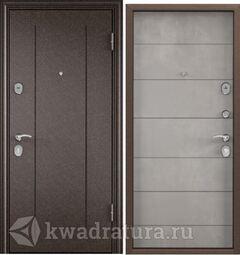Дверь входная стальная Торэкс Delta 100 медь RGSO/ПВХ Бетон серый D22