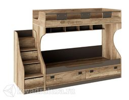 Пилигрим Кровать двухъярусная с приставной лесницей