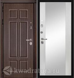 Дверь входная Профильдорс HD4 белое зеркало