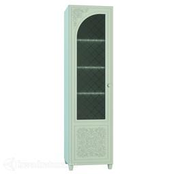 Шкаф со стеклом Соня-К  левый мята/салат