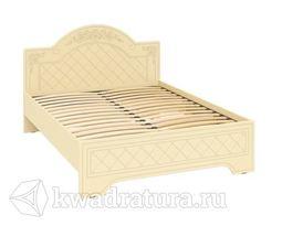 Соня-К Кровать 1600 бежевый/бежевый