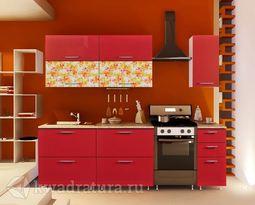 Кухонный набор Селена №162 Красный 2000 мм