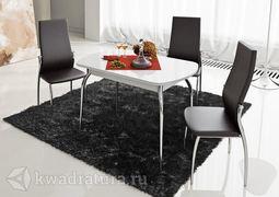 Стол обеденный Милан Белый глянец-стекло белое