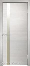 Межкомнатная дверь VellDoris Techno Z1 дуб белый поперечный