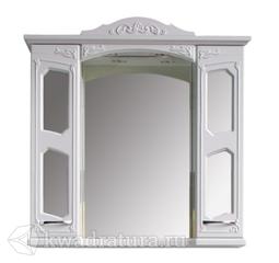 Зеркало-шкаф Atoll Маргарита 100 белый