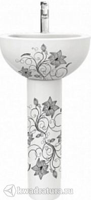 Раковина Sanita Luxe Art Flora