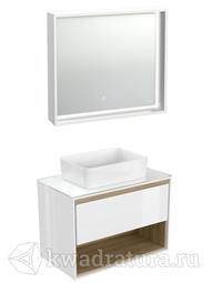 Комплект мебели для ванной Cersanit Louna 80 белый